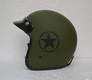 DELHI TRADERSS Vinyl Star Sticker for Bike Helmet (Black)