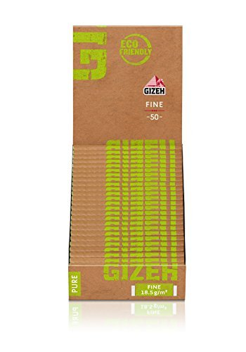Gizeh Pura Bene 25 × 50 Depliant/ Cartine per sigarette - ECO-Friendly
