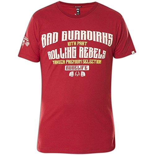 Yakuza Premium T-Shirt YPS-2208 Schwarz Rot