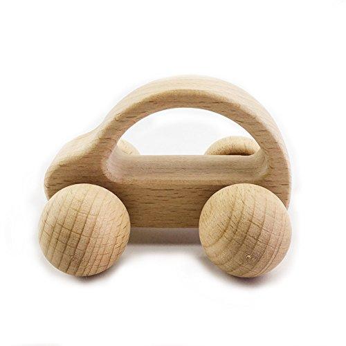 baby tete Coche De Madera Orgánica Waldorf Montessori Inspirado Juguetes Para Bebés, Niños Pequeños, Preschoolers Hecho A Mano Decoración Regalo Hecha Madera