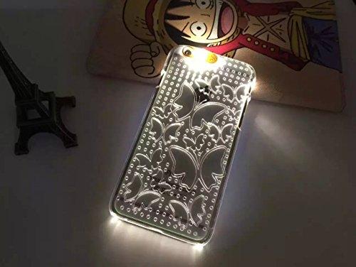 Lumière Clignotante Motif Transparent Coque rigide pour Apple iPhone 5/5S & 6/6S, Australie, Apple iPhone 5/5s BUTTERFLY1