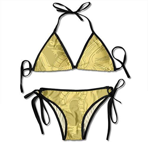 Dragon Coat of Arms Women's Sexy Bikini Set Swimsuit Bathing Suit Triangle Swimwear Two-Piece Suits