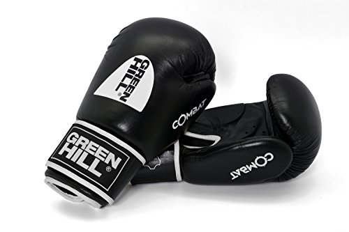 Green Hill Combat Boxing Glove Boxhandschuhe, Martial Arts Training Gloves Kampfsport-Trainingshandschuhe, Sparring Gloves Sparring Handschuhe Ideal For Boxing, Sparring, MMA, Kick Boxing, Thai Kick Boxing Training. (Training-equipment Combat)