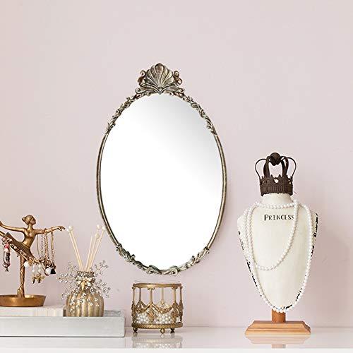 Espejos de pared Decorativo Vintage, Espejo vestidor Barroco, Espejo de Maquillaje Dorado Antiguo Tallado...