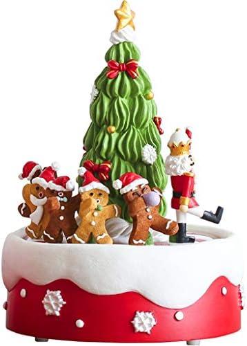 CWT-music box Boîte à Musique Arbre de Noël Rotatif Hommes en Pain d'épice boîte à Musique coloré boîte à Musique Cadeau de Noël | Technologies De Pointe