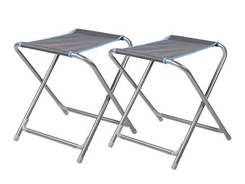 2er-Set Faltbarer Anglerstuhl / Campinghocker mit abnehmbarer Tischplatte, Gewicht 2,5kg; Campart...