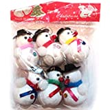 Fizzytech Christmas Decoration Hanging Snow Man Small- Pack Of 6