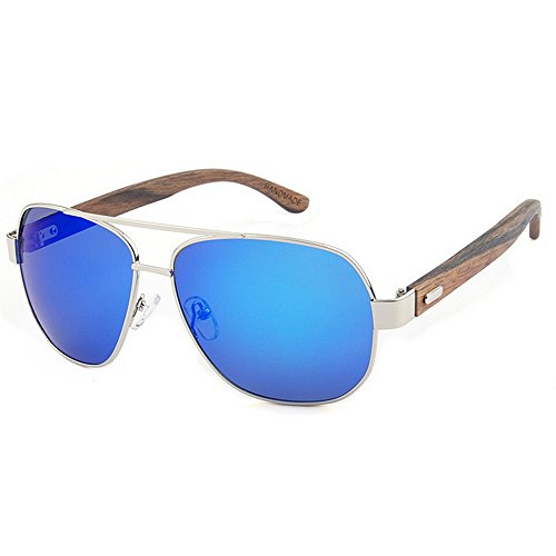 Xiuxiushop Holz Retro Vintage Designer Sonnenbrillen Wayfarer Aviator Outdoor Sports Sonnenbrillen UV400 (Color : Gold)