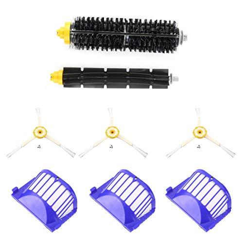 Spazzola di ricambio per robot di pulizia 3 pezzi Spazzola di ricambio per filtri detergente 3 pezzi Set di spazzole di ricambio per Roomba 620 630 650 660