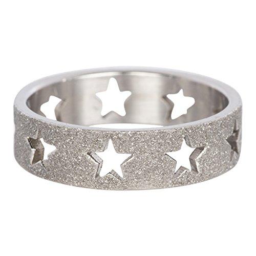 iXXXi Füllring STERNENRING Sandgestrahlt silber - 6 mm Größe Ringgröße 17 (Größe 6 Ringe)