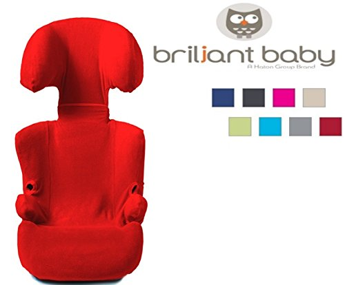 BriljantBaby -- FROTTEE Ersatzbezug / Universal-Bezug -- Frühling / Sommer / Herbst -- z.B. für Maxi Cosi RODI, Römer KID etc. (ROT)