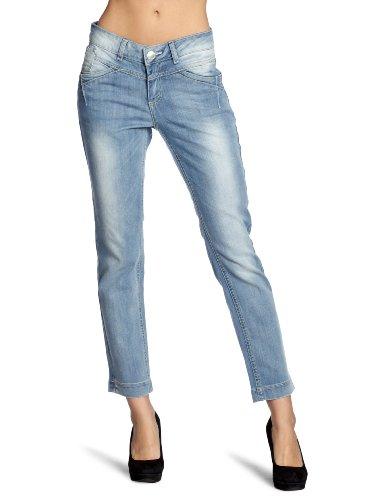 TOM TAILOR Damen Jeanshose/ Overalls & Latzhose  60175420070/7/8 summer washed jeans, Gr. 27, Blau (1093)
