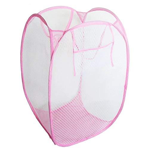 LouiseEvel215 Kreative Faltbare Pop Up Waschen Wäschekorb Tasche Hamper Nylon Mesh Kinder Spielzeug Veranstalter Kleidung Ablagekorb (Kleidung Veranstalter Für Kinder)
