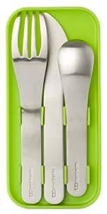Monbento Besteck Set für Bento Box / Lunchbox Edelstahl, grün
