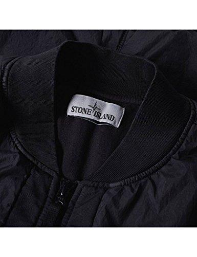 Stone Island - Stone Island Garment Dyed Crinkle Reps Black Bomber Noir