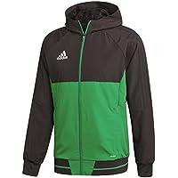 Adidas TIRO17 PRE JKT Chaqueta, Hombre, Negro/Verde/Blanco, 3XL