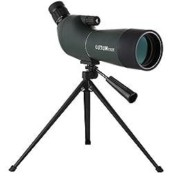 LU2000 Angles Zoom Spotting Scope Telescope, High Power 20-60X60 étanche Zoom Single Tube Telescope Monoculaire HD Miroir ciblé avec trépied et Sac Portable