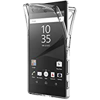 Funda Sony Xperia Z5, AICEK Transparente Silicona 360°Full Body Fundas para Sony Z5 Carcasa Silicona Funda Case (5,2 Pulgadas)