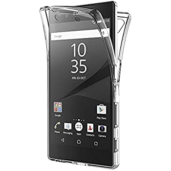 ebe2ee4cd26 AICEK Sony Xperia Z5 Case, Full Body 360 Degree Transparent Silicone Cover  for Sony Xperia Z5 Bumper Covers Clear Case (5.2 inch)