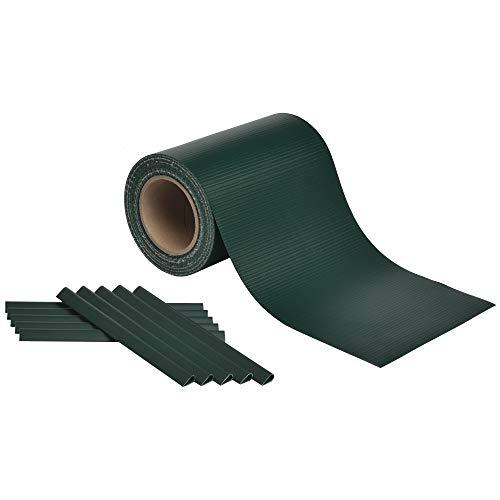 Sol Royal Zaun Sichtschutzstreifen SolVision ST6 - PVC Sichtschutz Stabmattenzaun 35m x 19 cm Inkl. 25 Clips in Grün & div Farben wählbar