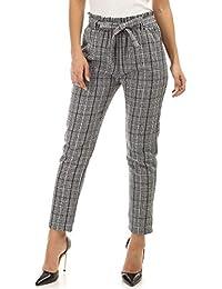 La Modeuse - Pantalon Carotte Taille Haute imprimé Prince de Galles 34877e8ffe6