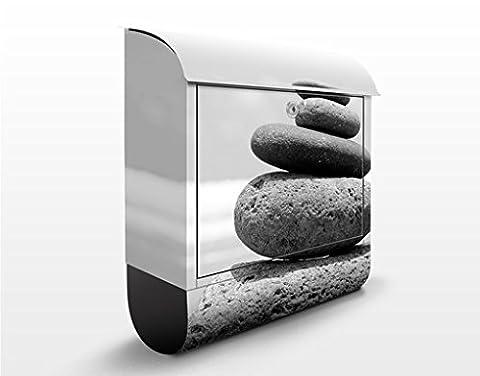 Design Briefkasten Sand Stones No.2 | Wand Mauer Steine Ziegel Felsen, Postkasten mit Zeitungsrolle, Wandbriefkasten, Mailbox, Letterbox, Briefkastenanlage, Dekorfolie