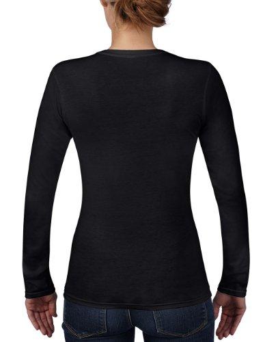 Anvil - Maglietta, Manica lunga, Donna nero (Schwarz (BLA-Black 036))