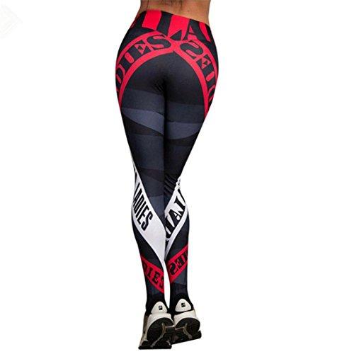 Damen 3/4 Yoga Leggings Hose,Kolylong Freizeit Hohe Taille Pants | Dünne Hosen | 3D Muster Print Fitness Leggings | Elastische Sport Training Workout Leggings | Sporthose (S, Multicolor)