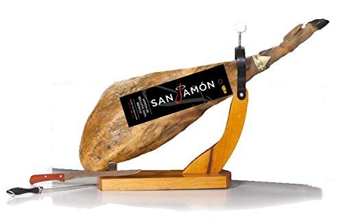 San Jamon - Jambon Ibérique de Bellota Grande Réserve, 8,5-9.5 kg avec support à jambo