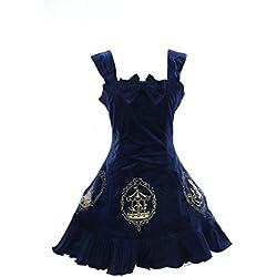 JL de 554Azul Stretch Mermaid terciopelo gótico Lolita vestido Dress Cosplay kawaii de Story