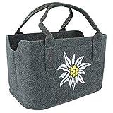 GILDE Filztasche Einkaufstasche mit Edelweiss,40x26x24cm