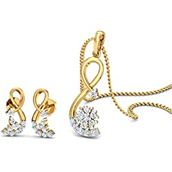 Chandrika Pearls gold plated American Diamond Pendant
