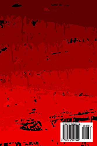 My Daily Journal: Retro Grunge Red Abstract, Lined Journal, 6 x 9, 200 Pages