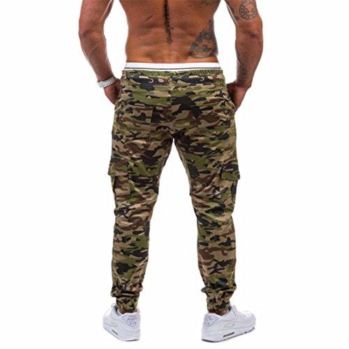 QIYUN.Z Pantaloni Lunghi Pantaloni Lunghi Del Camuffamento Di Modo Degli Uomini Army Green