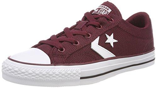 Converse Star Player OX Dark Burgundy/White, Zapatillas Unisex Adulto, Rojo 628, 39 EU