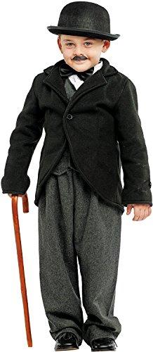 Chiber - Kostüm Charly Chaplin für Kinder (Größe ()