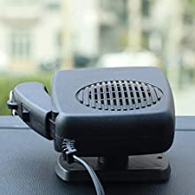 Womdee Portable Car Heater Defroster, 12V 150W Windshield Defogger Defroster with Ergonomic Handle, 2 in 1 Cooler & Heater Fan That Plug In Cigarette Lighter, 360° Rotate, Low Noise