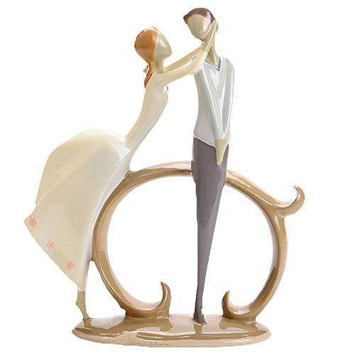 Skulptur/Statue, Paar Skulptur, Charakter Statue, Harz Dekoration, Moderne Wohnzimmer Dekoration, BüRo, Schlafzimmer, Arbeitszimmer, Hochzeit (11,5x6x21,5 cm),DDCYY-02