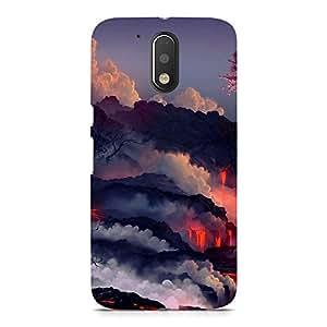 Hamee Designer Printed Hard Back Case Cover for Motorola Moto M Design 5305