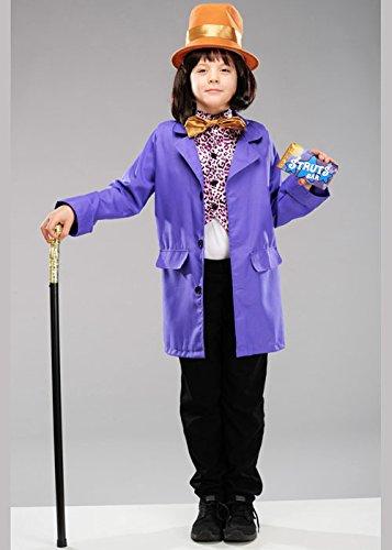 Kindergröße Willy Wonka Style Kostüm Large 8-10 years
