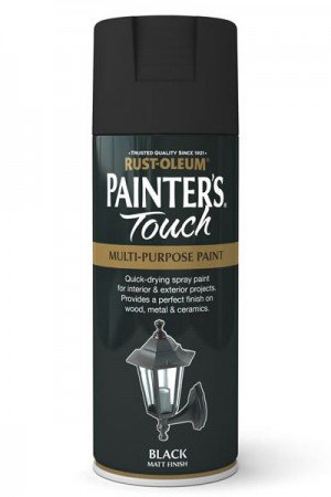 rust-oleum-painters-touch-multi-purpose-aerosol-spray-paint-400ml-black-matt-1-pack