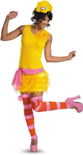 Kostüm Bird Adult Big - Disguise Adult Sassy Female Big Bird, Yellow/Orange/Pink, Medium (8-10) Costume