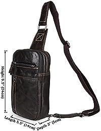 5aa4ae22ea Outdoor peak da uomo in vera pelle bovina Vintage Messenger Bag Custodia  per fotocamera tagetasche Borsa