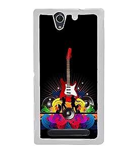 Fiobs Designer Back Case Cover for Sony Xperia C4 Dual :: Sony Xperia C4 Dual E5333 E5343 E5363 (Guitar Symbol)
