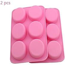 Molde de silicona ovalado para jabón de chocolate o magdalenas, 2 unidades, 6 unidades