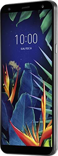 LG K40 Smartphone (14, 48 cm (5, 7 Zoll) LC-Display, 32 GB interner Speicher, 2GB RAM, MIL-STD-810G, Android 8.0) Platinum Gray Lg Sim-karte