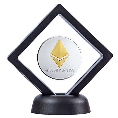 Cryptobase Physische Ethereum Münze ETH Coin aus Edelstahl Inklusive Schaukasten -