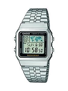 Casio Reloj Digital para Hombre de Cuarzo con Correa en Acero Inoxidable A500WEA-1EF de CASIO