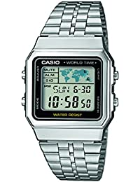 Casio Collection – Unisex-Armbanduhr mit Digital-Display und Edelstahlarmband – A500WEA-1EF