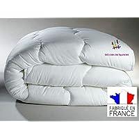 Couette 220x240cm- Anti-Acariens - Fabrication Française-2 personnes - Blanc -Décors De Maison
